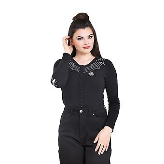 Hell Bunny Black Spider Cardigan S