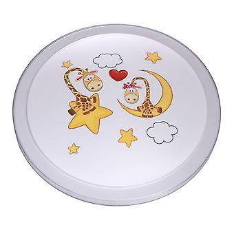 Glasberg - vita barns Led infälld taklampa med tryckta Moon Design 365015701