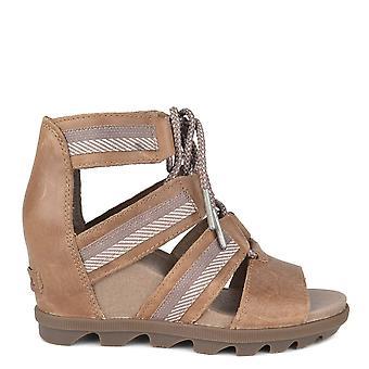 Sorel Joanie Ii cendre brune Lace Wedge Sandal