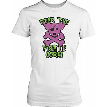 Frukta pirat Corgi damer T Shirt