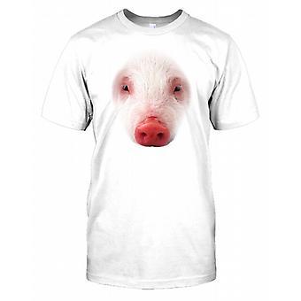 Świnia fajne wieprzowych twarz dzieci T Shirt