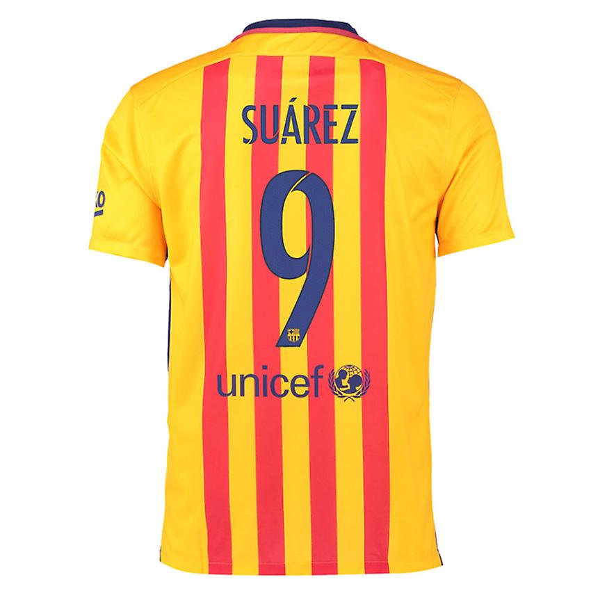 2015-16 Barcelona Away Shirt (Suarez 9)