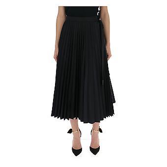 Valentino Black Polyester Skirt