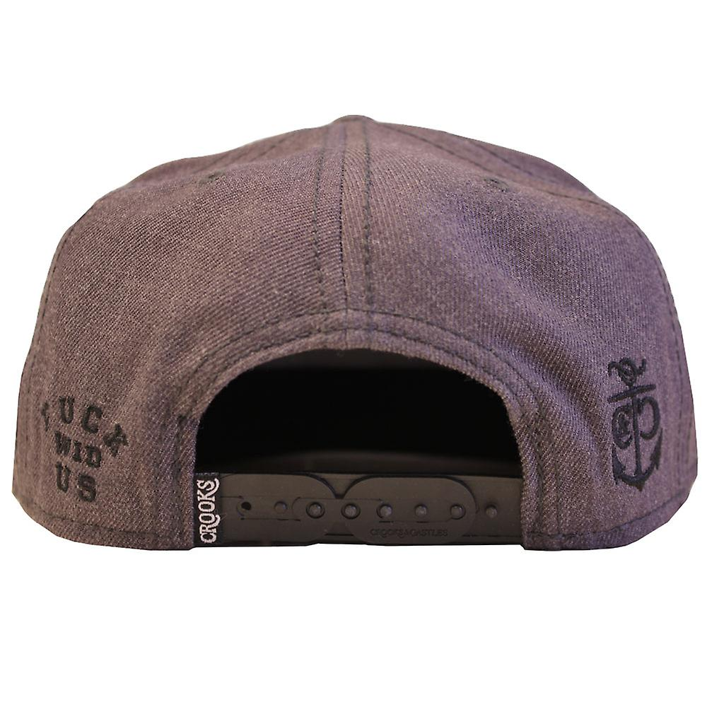 Crooks & Castles F*ck Wid Us Snapback Speckle Grey