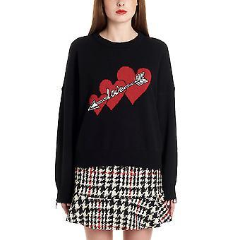 Red Valentino Black Wool Sweater