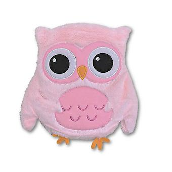 Fluffy Pink Owl Microwavable Lavender Heat Pack