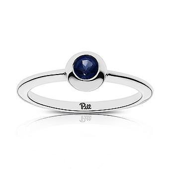 University Of Pittsburgh - Pitt Engraved Dark Sapphire Ring