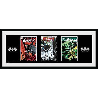 Batman Comic strips ingelijst Collector Print 75x30cm