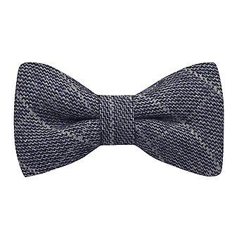 Stone Blue Birdseye Check Bow Tie