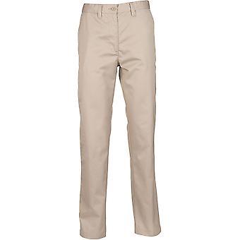 Henbury - Women's Ladies 65/35 Flat Fronted Chino Trousers