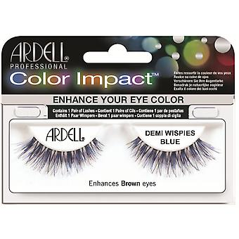 Ardell Color Impact Demi Wispies Blue Easy To Apply Full False Eye Lashes