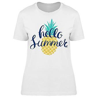 Sommer Ananas Schriftzug Tee Frauen's -Bild von Shutterstock
