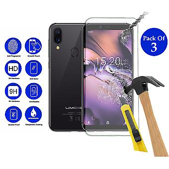 Pack of 3 Tempered Glass Screen Protection For Umidigi A3 5.5