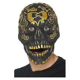 Herren Deluxe Maskerade Skull Maske Halloween Fancy Dress Zubehör