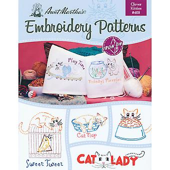 Aunt Martha's Iron On Transfer Books Clever Kitties Tpb 408