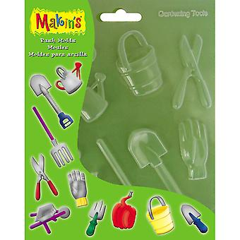Makin's Clay Push Molds Gardening Tools M390 12