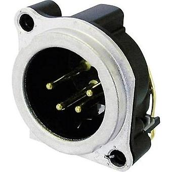 XLR connector Sleeve plug, right angle pins Number of pins: 4 Silver Neutrik NC4MBH 1 pc(s)