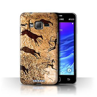STUFF4 Case/Cover for Samsung Z1/Z130/Hunters/Brown/Cave Painting