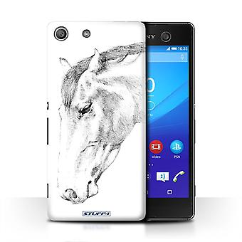 STUFF4 Case/Cover for Sony Xperia M5/Horse/Sketch Drawing