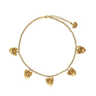 Butler & Wilson Heart & Bow Charms Chain Necklace