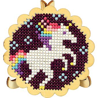 Round Scallop Edge Display W/Easel Punched For Cross Stitch-3