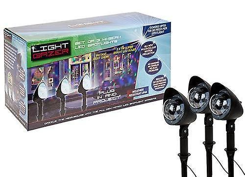 3 Pack Disco Christmas Light Gazor Projector - Project Coloured Xmas lights