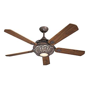 Ceiling Fan Santa Pepeo rust brown with wall control