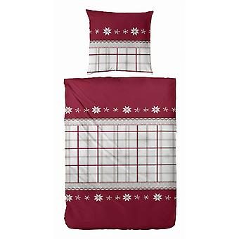 TAP precious flannel bedding red snowflake 155 x 220 cm