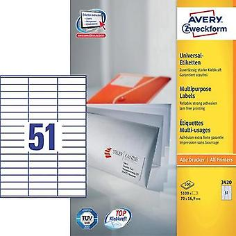 Avery Labels 3420 70X16, 9Mm