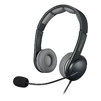 SPEEDLINK Sonid USB-Stereo Headset med mikrofon sort/grå (SL-870002-BKGY)