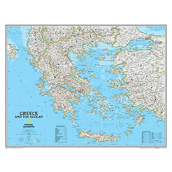 Greece Classic laminated : Wall Maps Countries & Regions: PP.NG622111 (Reference - Countries & Regions) (Map) by National Geographic Maps