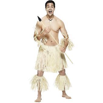 Cavernicolo pezzo di costume paglia Zulu 5 di età della pietra