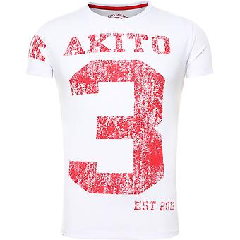 Akito Tanaka T-Shirt NUMBER white/red