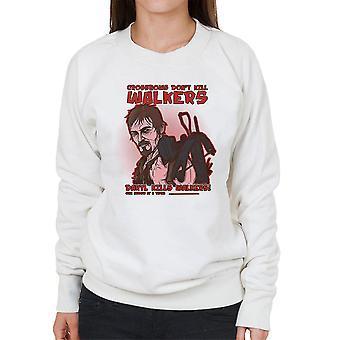 Armbrøster ikke dræbe vandrere Daryl Walking Dead kvindernes Sweatshirt