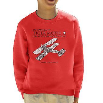 Haynes eiere Workshop manuell de Havilland Tiger Moth barneklubb Sweatshirt
