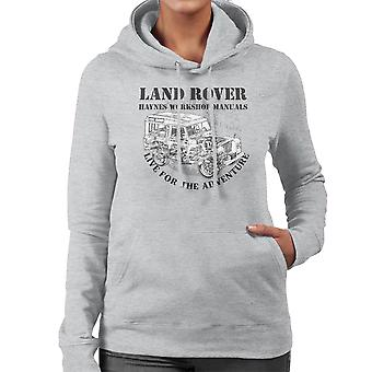 Haynes eiere Workshop manuell Land Rover eventyr svart kvinner Hettegenser
