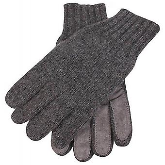 Dents Knitted Cashmere Gloves - Charcoal