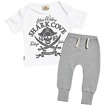 Spoilt Rotten Pirate Print Baby T-Shirt & Joggers Outfit Set