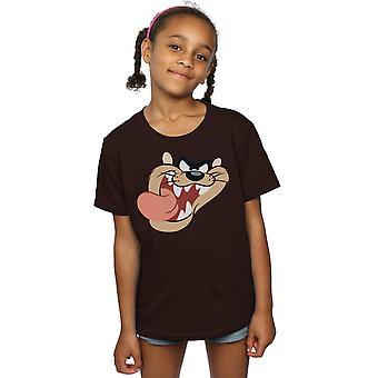 Looney Tunes Girls Tasmanian Devil Face T-Shirt