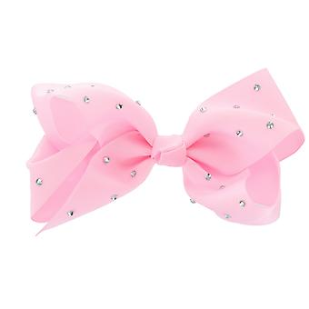 Girls Boutique Big Fashion Hair Bow with Diamante Dance School Accessory