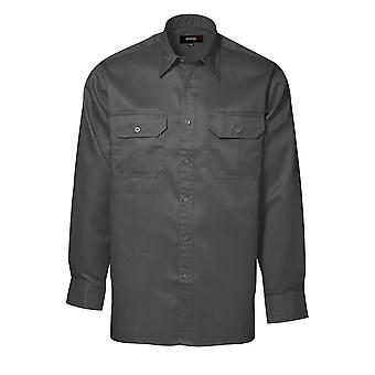 ID Mens Durable Polycotton Loose Fitting Worker Shirt