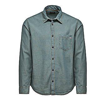 Jack and Jones een Sco Star Medium blauw Denim Casual Shirt