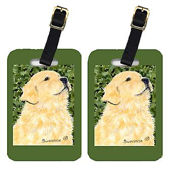 Carolines Treasures  SS8810BT Pair of 2 Golden Retriever Luggage Tags