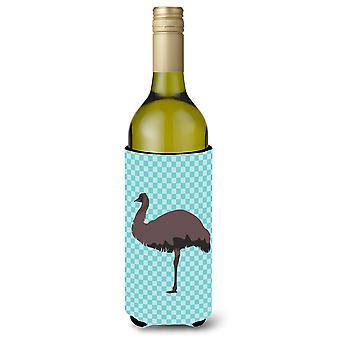 EMU Blue Check wijnfles Beverge isolator Hugger