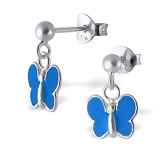 Butterfly - 925 Sterling Silver Colourful Ear Studs