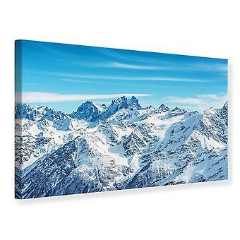 Lærred Print bjergpanorama
