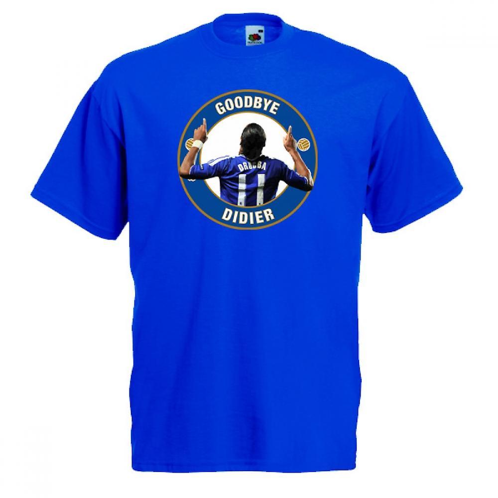 T-shirt Chelsea revoir Drogba (Bleu)