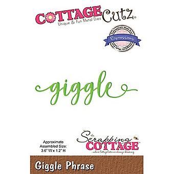 CottageCutz Expressions Plus Die-Giggle 3.6