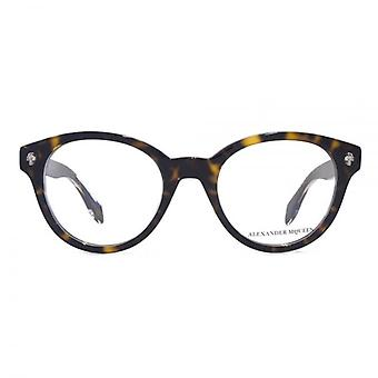 Alexander McQueen Ghost Skull AM0028 Glasses In Havana