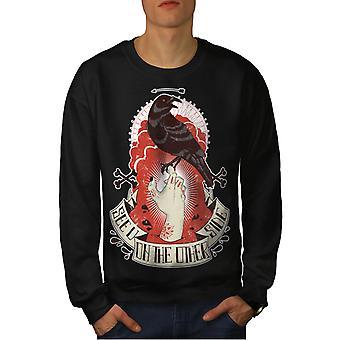 Vous voyez un corbeau mort horreur hommes BlackSweatshirt   Wellcoda